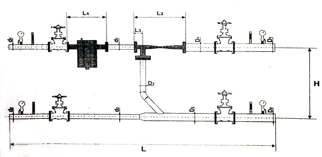 Схема элеваторного узла отопления №2